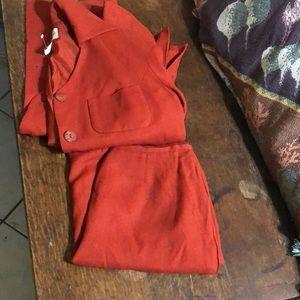 2pc Casual Corner SZ 4p Suit Blazer& Skirt Set Top